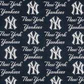 MLB New York Yankees Cotton Fabric